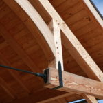 Timber frame beam construction