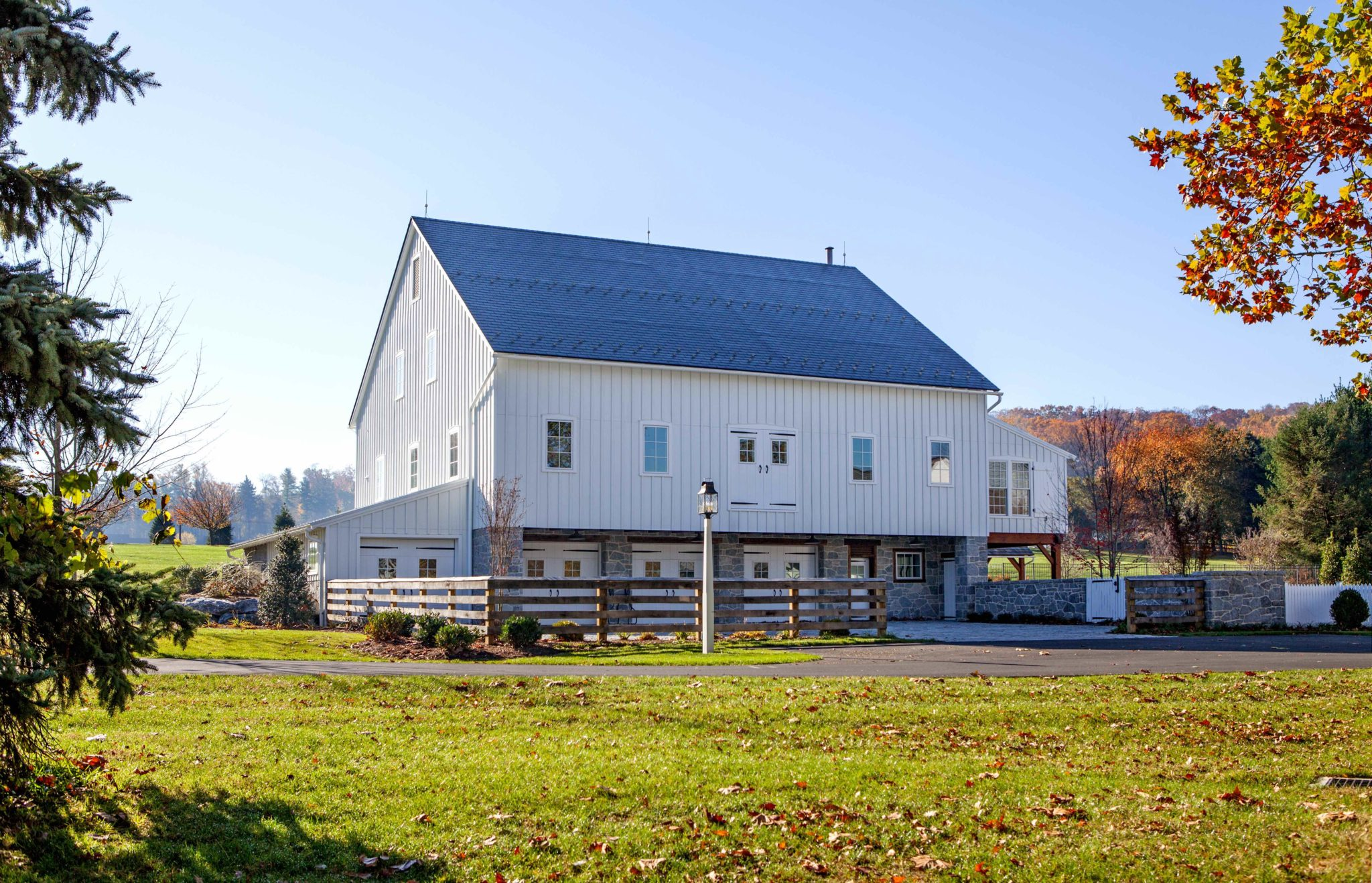 Timber frame bank barn