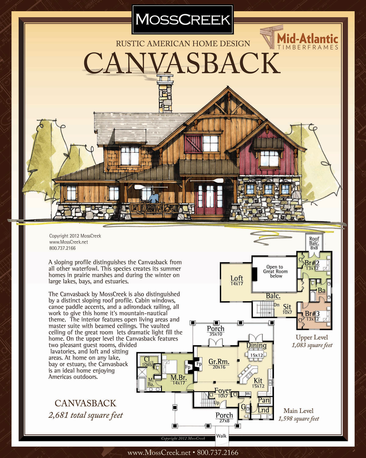 Canvasback Timber Frame Home Plans
