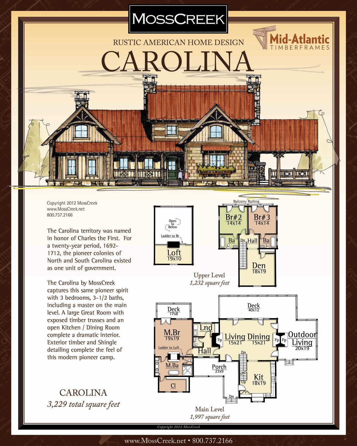 Carolina Timber Frame Home Plans