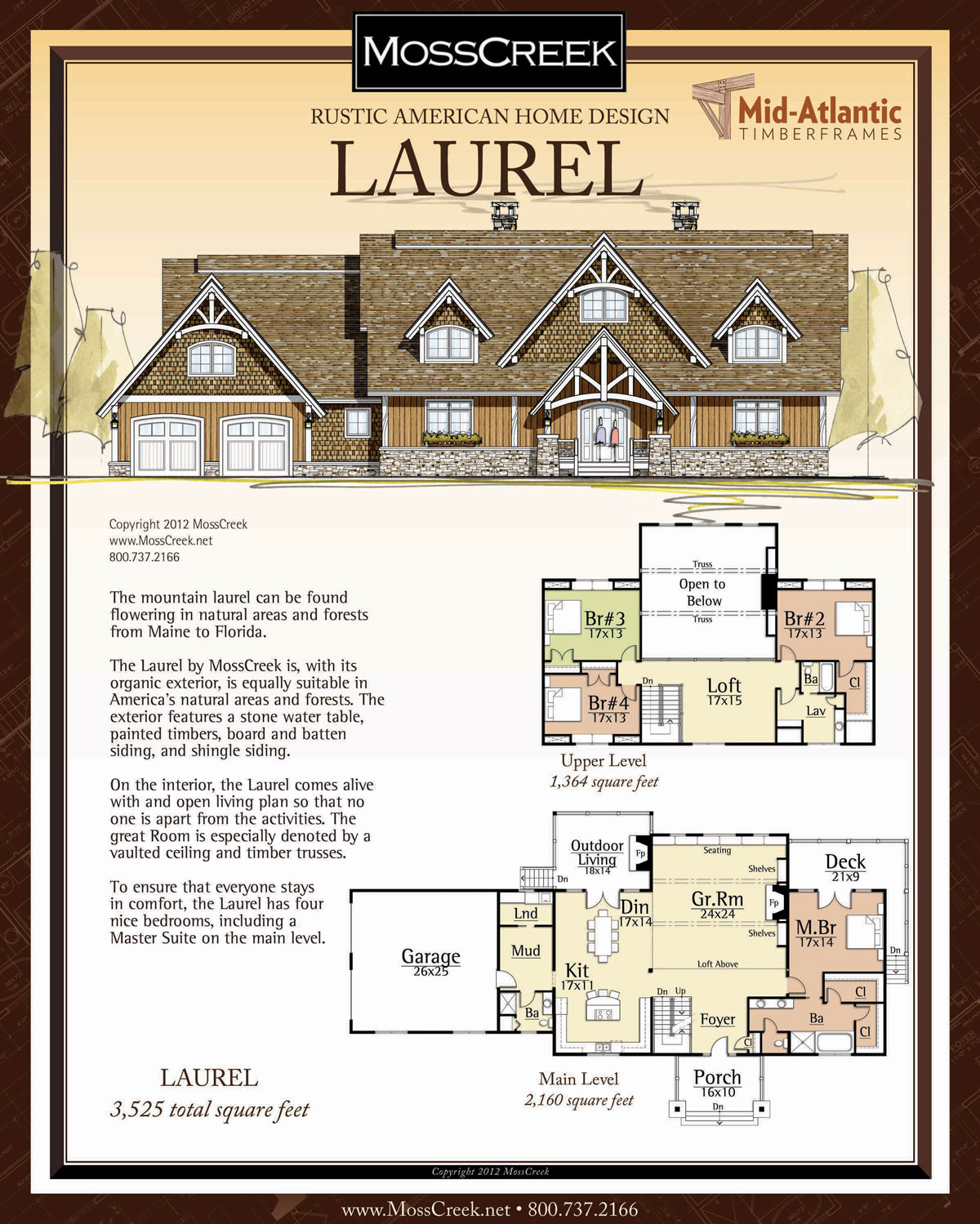 Laurel Timber Frame Home Plans