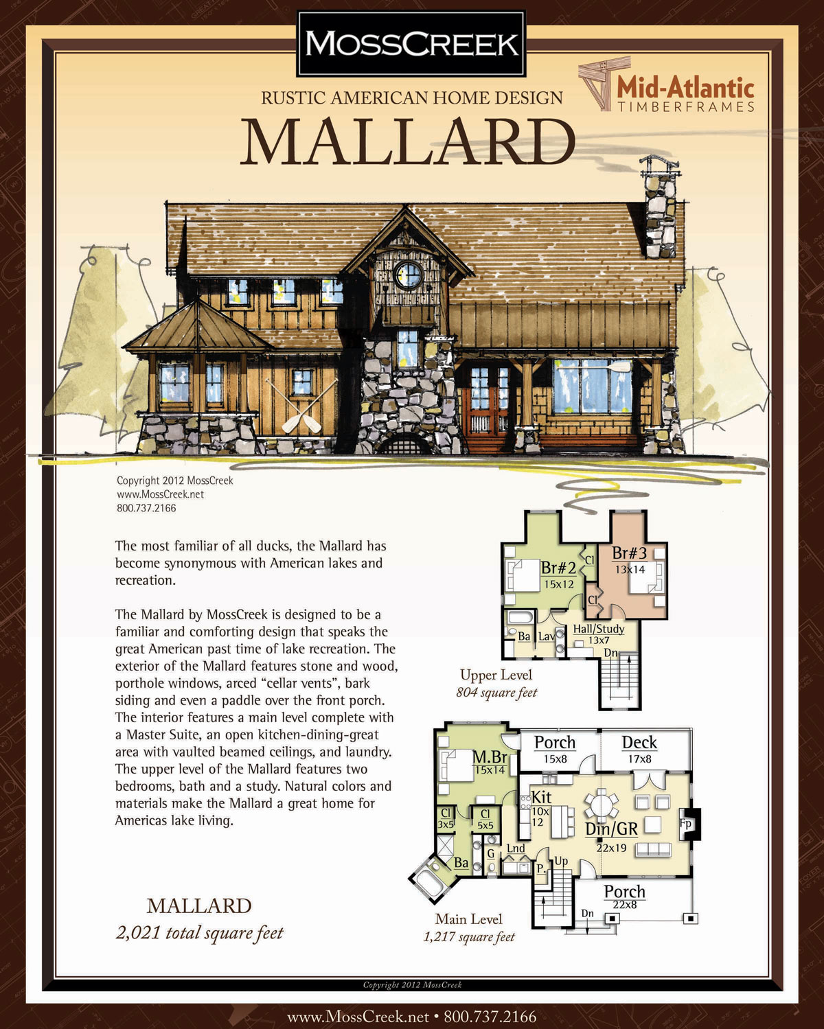 Mallard Timber Frame Home Plans