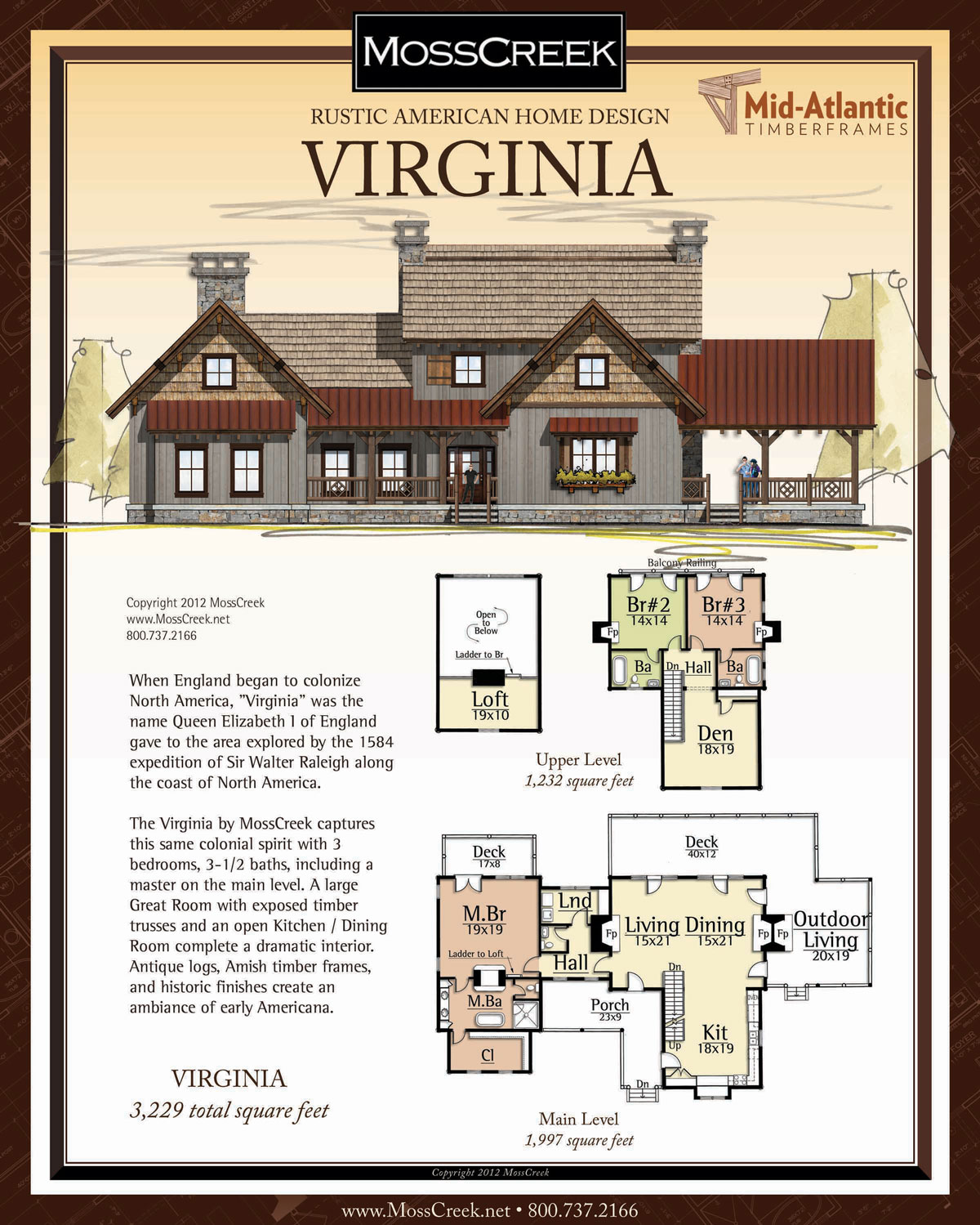 Virginia Timber Frame Home Plans