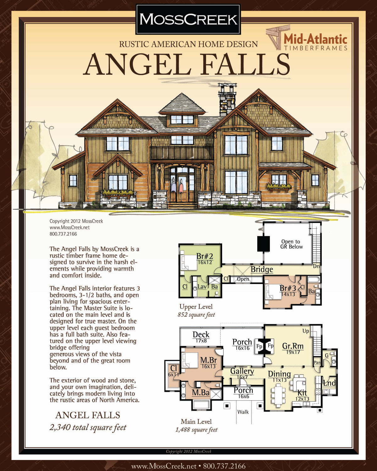 Angel Falls Timber Frame Home Plans