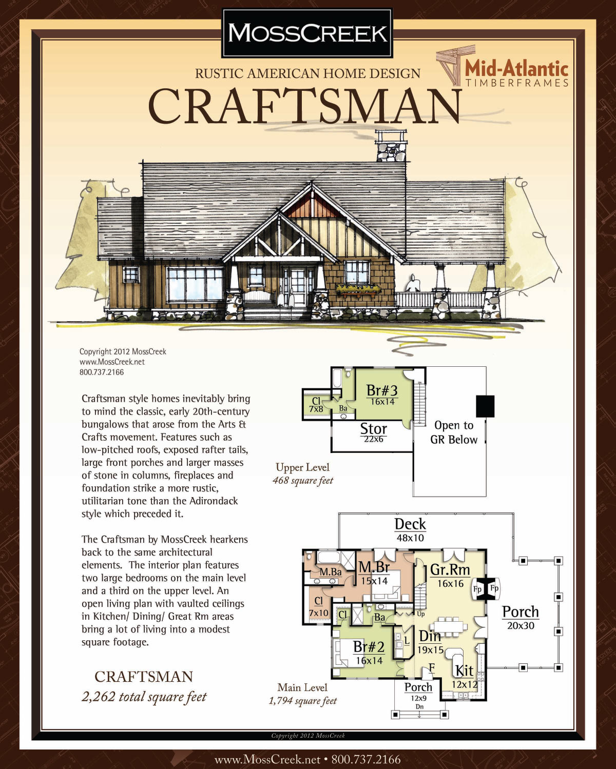 Craftsman Timber Frame Home Plans
