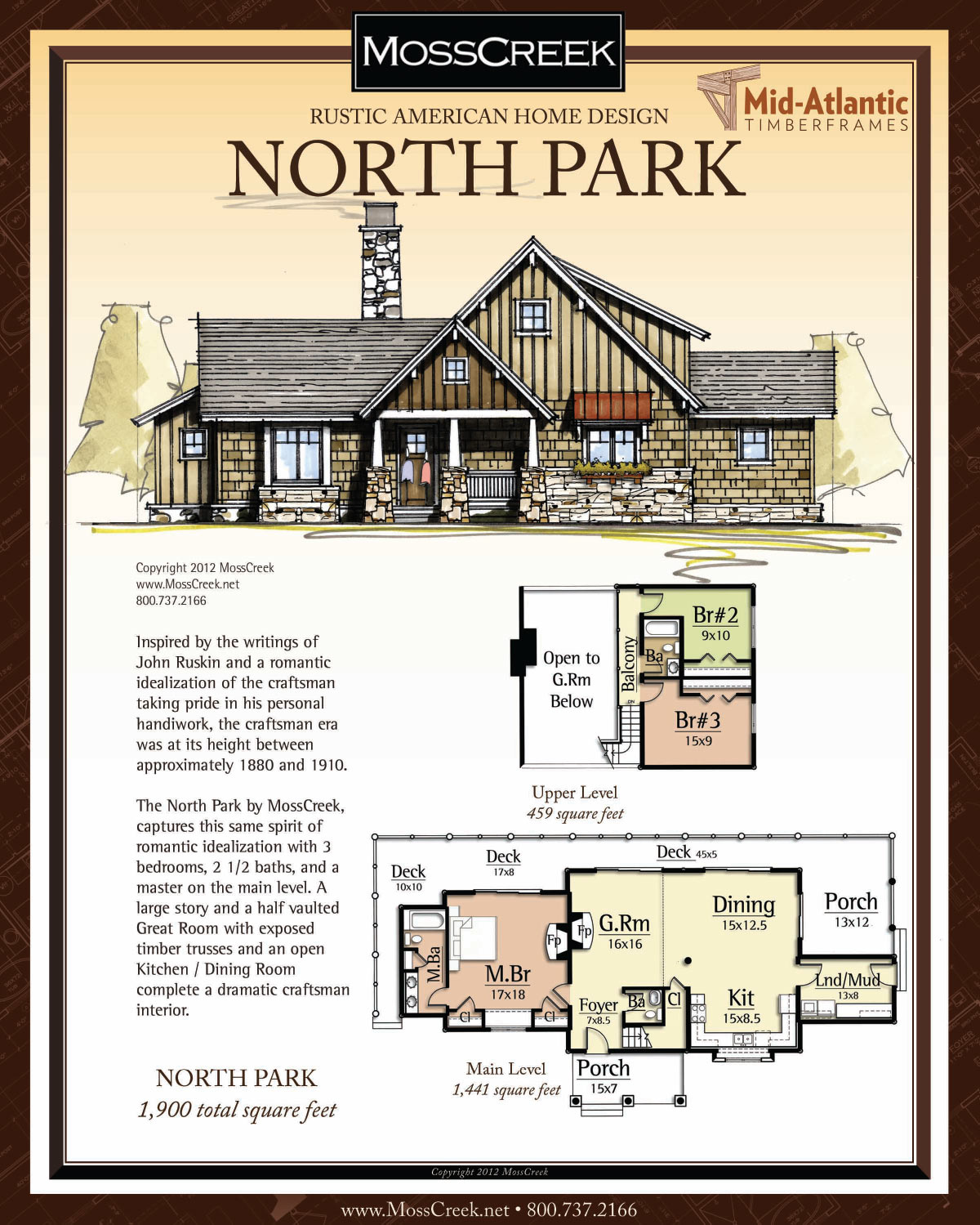 North Park Timber Frame Home Plans
