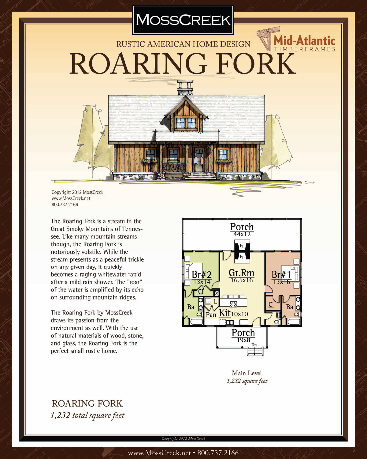 Roaring Fork Timber Frame Home Plans