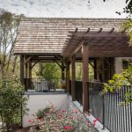 Timber frame pergola and complete patio
