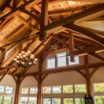 Timber frame trusses for a great room