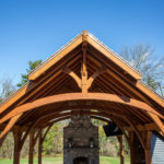 Timber frame outdoor pavilion