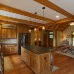 Log and timber frame home