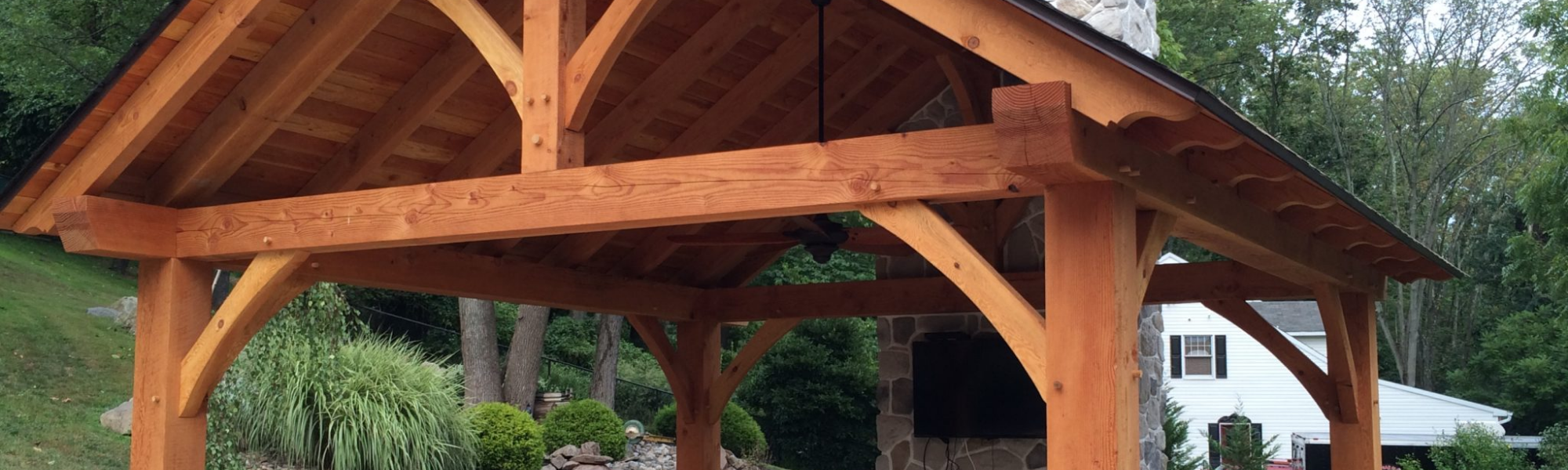 Outdoor Timber Frame Construction