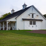 large white timber frame wedding venue in chester pa