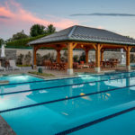outdoor pool pavilion sitting in front of swimming pool in merion pennsylvania
